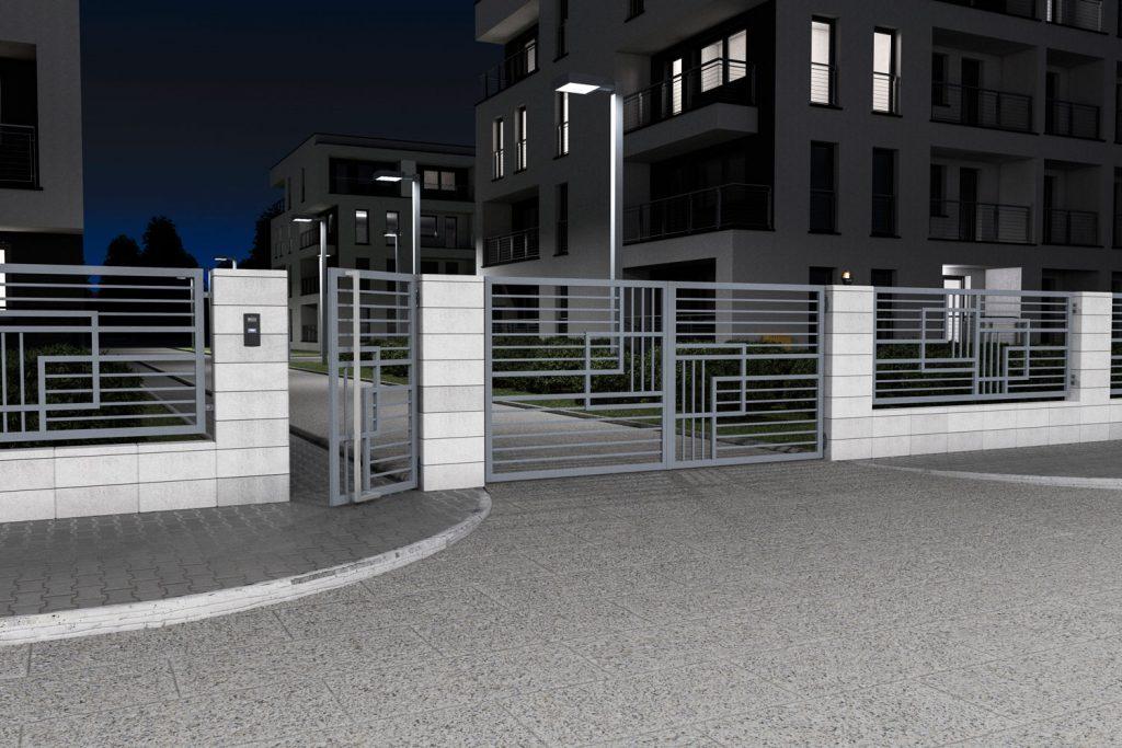 Wizualizacje fotorealistyczne domów ogrodzeń budynków