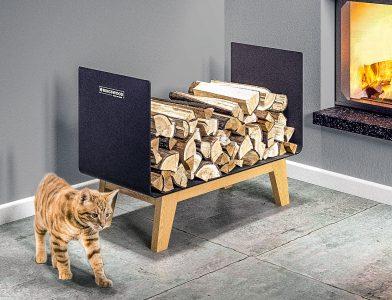 fotorealistyczne wizualizacje 3D wnętrz z obróbką fotomontaż rendery 3D kominek stojak na drewno schody