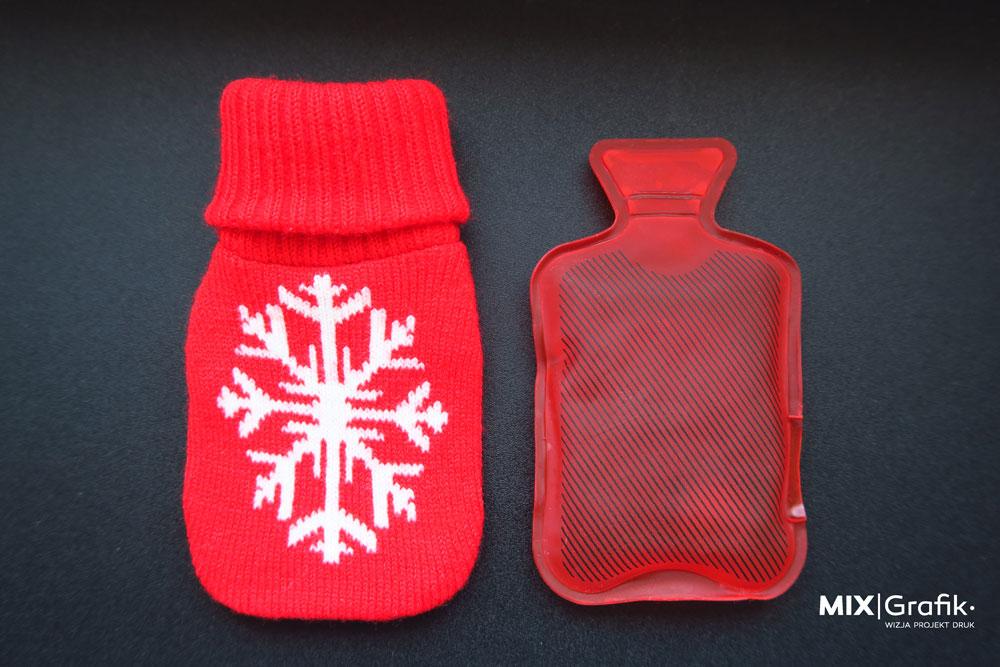 Ogrzewacz do rąk sweterek skarpetka dzianina z logo własnym wzorem Hand Warmer with custom logo, pattern.