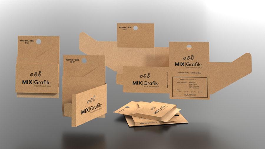 etykietki do skarpetek bez plastiku drukarnia kraft eco