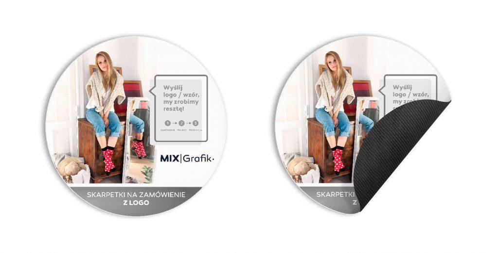 Podkładki pod myszkę na zamówienie z logo okrągłe 200 mm z własnym wzorem zdjęciem