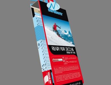 Front etykiety na skarpetki narciarskie