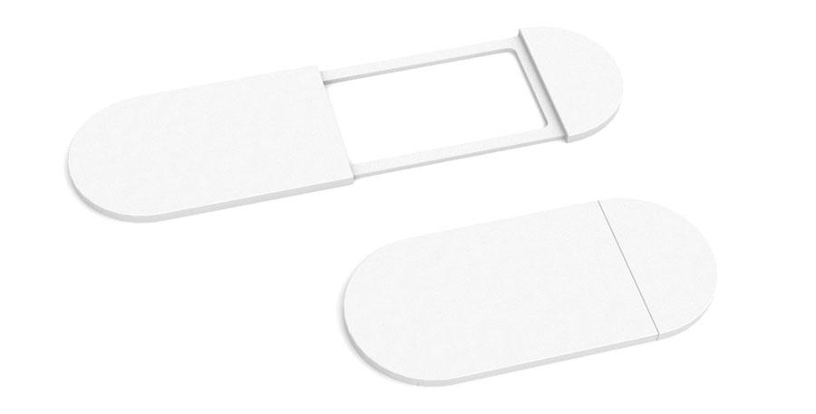 zasuwka na kamerę biały plastik