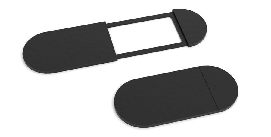 zasuwka na kamerę czarny plastik