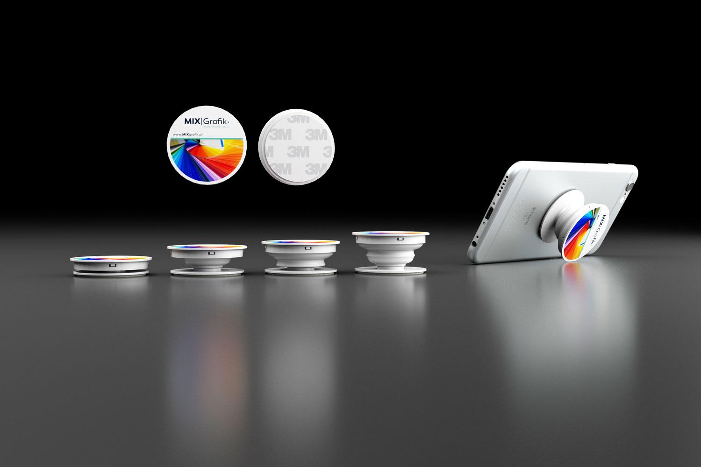 socket pop holder custom priint with logo