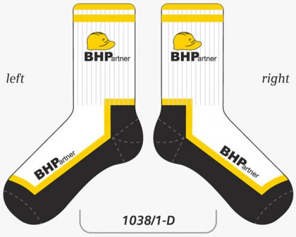 Wizualizacja BHP skarpetki