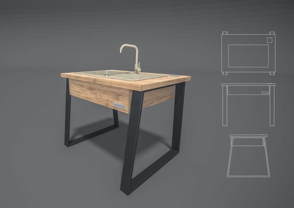 wykonujemy producent meble industrialne na indywidualne zamówienie stalowe drewniane ekspozycje sklepowe