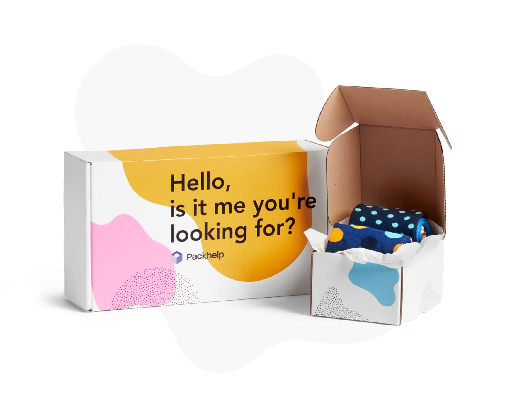 Box für Socken mit eigenem Logo-Druck abschließbar