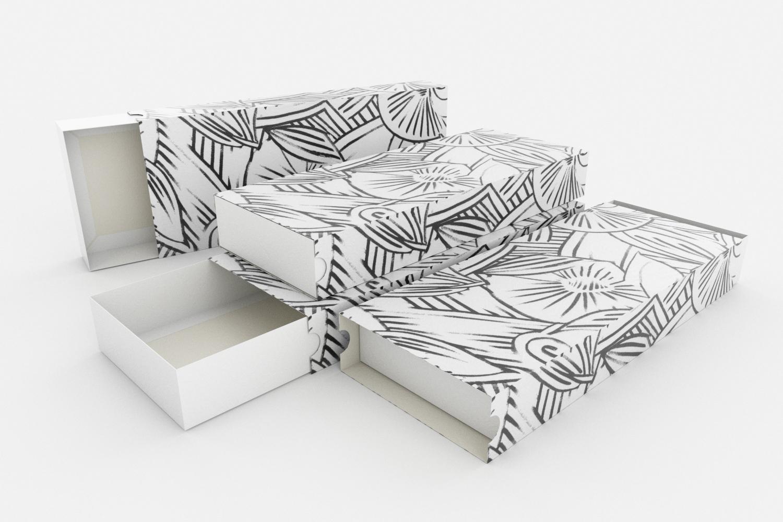 Maßgeschneiderte Multipack-Verpackung mit Druck auf dem Tray-Wrapper ohne Druck 3 Erpack
