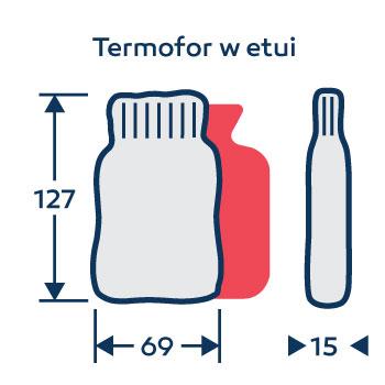 Wymiary termofor - ogrzewacz do rąk - na zamówienie - z logo - w etui