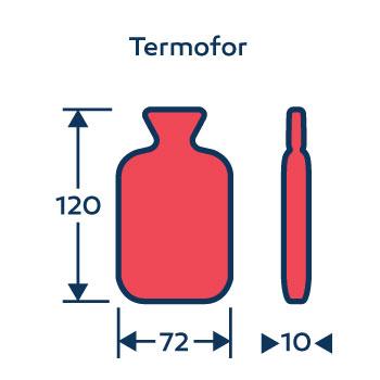 Wymiary termofor - ogrzewacz do rąk - na zamówienie - z logo