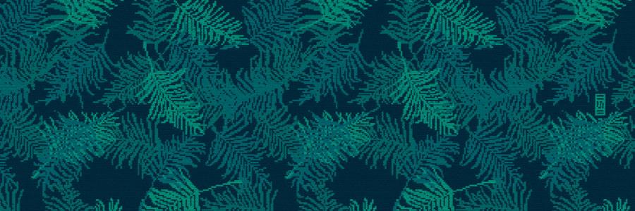 Baner www wzór liście tropikalne na skarpetki