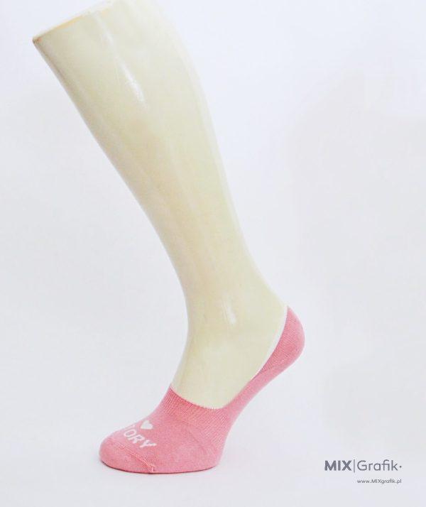 Skarpetki niewidoczne na zamówienie z logo - now show socks with custom design