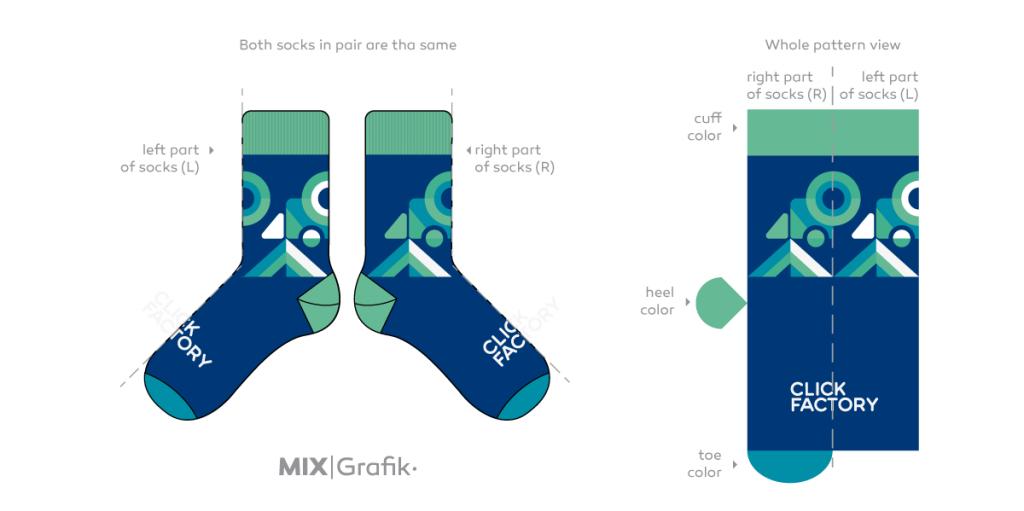themplate socks-design you own socks