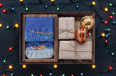 Opakowanie pudełko prezentowe premium skarpetki na zamówienie ogrzewacz do rąk