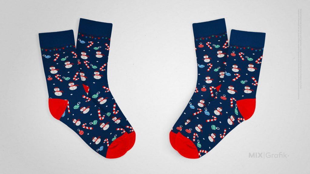 Skarpetki świąteczne na zamówienie z logo