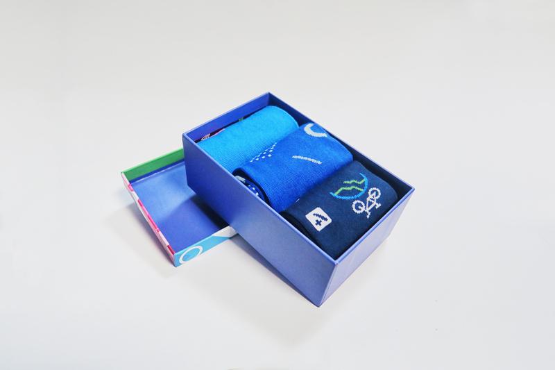 Pudełko na trzy pary skarpet