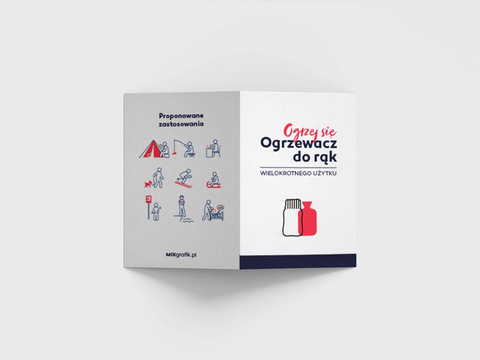 hand warmer with logo leaflet - instrukcja do ogrzewaczy do rąk z logo